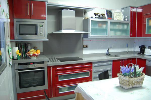 Diseno cocina rojajpg car interior design - Cocinas rojas y blancas ...